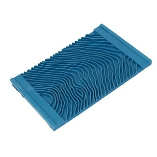 MS12 Household Wall Art Paint Rubber Wood Graining DIY Tool 15cmx9.5cm Blue
