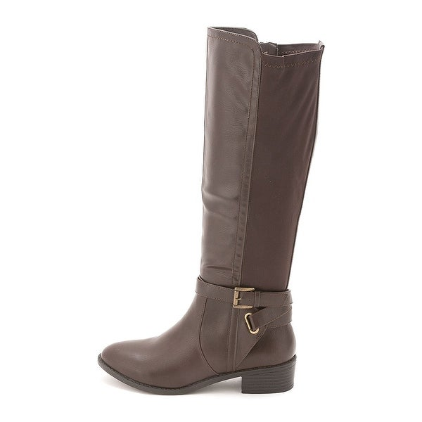 Rampage Womens ILITE Almond Toe Knee High Fashion Boots