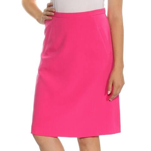 KASPER Womens Pink Knee Length Shift Skirt Size 6