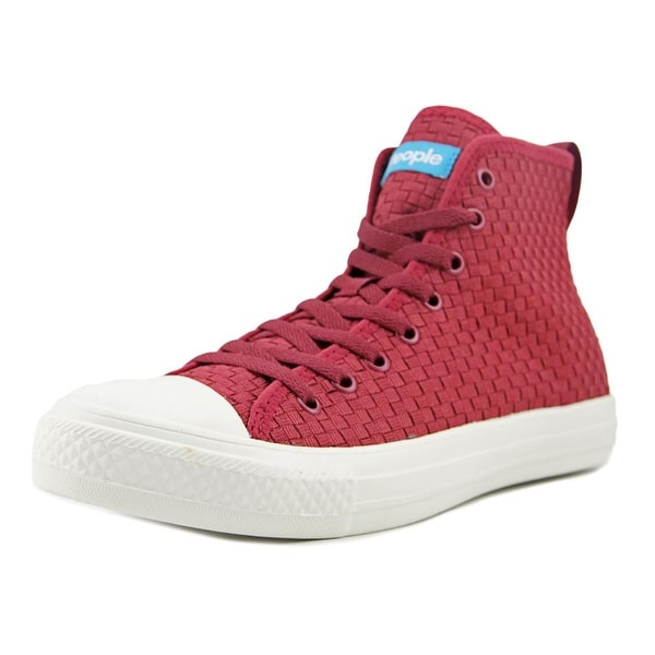 People Footwear The Phillips High Men Round Toe Synthetic Burgundy Sneakers