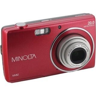 Minolta MN5Z-R 20MP HD Digital Camera with 5 x Zoom, Red