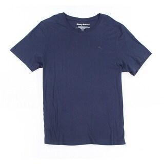 Tommy Bahama NEW Navy Blue Mens Size Medium M Crew Neck Logo T-Shirt