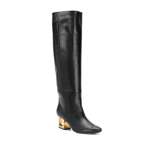 Givenchy Women's Leather G-Heel High Boot Black