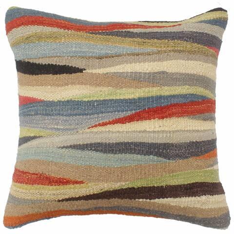 Turkish Boho Chic Gilmore Hand Woven Kilim Pillow