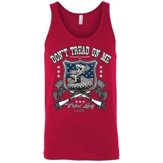 Men's Tank Top USA Flag Don't Tread On Me Defend Liberty 2nd Amendment Guns