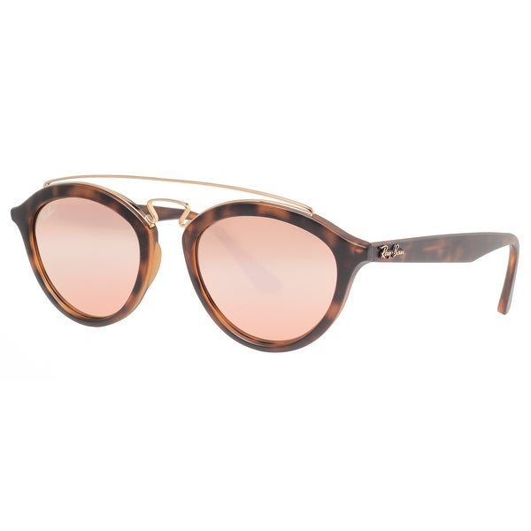 Ray Ban RB4257 6092/2Y 50mm Gatsby II Tortoise Brown Copper Mirror Sunglasses - tortoise brown - 50mm-19mm-145mm
