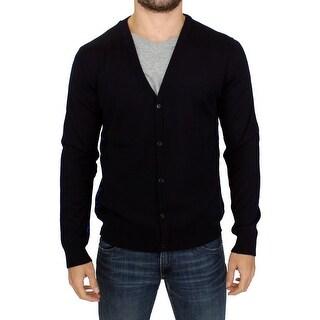 Galliano Galliano Dark blue wool cardigan