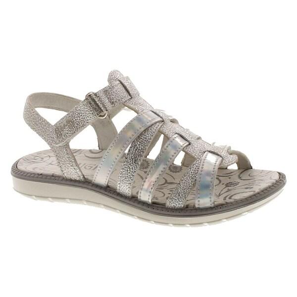 Primigi Girls 13810 Leather European Fashion Sandals - Silver