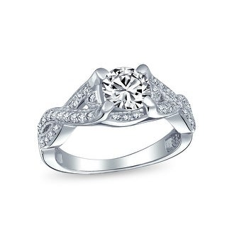 Link to 2CT Solitaire Cut AAA CZ Infinity Engagement Ring Sterling Silver Similar Items in Rings
