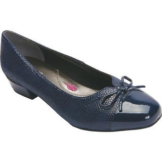Ros Hommerson Women's Tawnie Pump Navy Lizard Print Leather