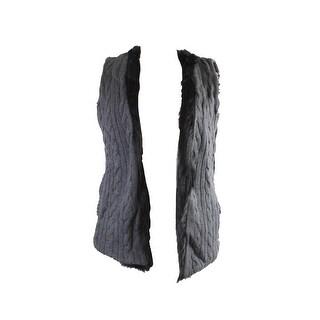 Tommy Hilfiger Reversible Faux-Fur Sweater Vest S