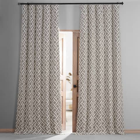 Exclusive Fabrics Martinique Printed Cotton Hotel Blackout Curtain
