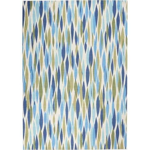 Waverly Sun N' Shade Modern Abstract Indoor / Outdoor Area Rug
