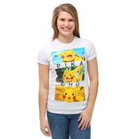 Womens Pokemon Pikachu Emotion Boxes T-Shirt