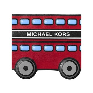 Michael Kors Womens Red Bus Leather Stickers Stick On Patch