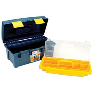 "16""X8.9""X8.6"" Blue & Yellow - Pro Art Storage Box W/Inner Tray"