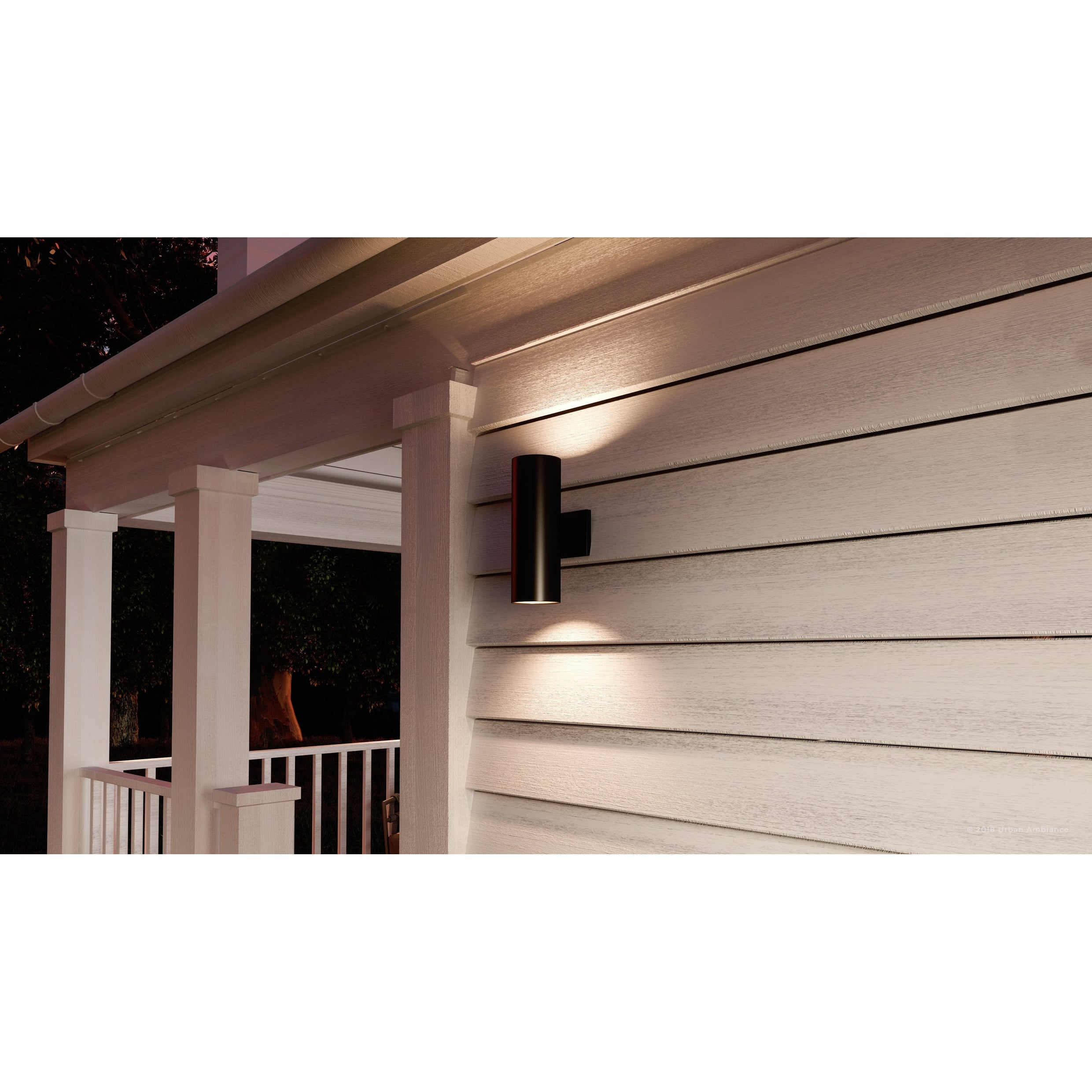 Shop Black Friday Deals On Luxury Contemporary Outdoor Wall Light 14 H X 5 W With Art Deco Style Elements Olde Bronze Finish By Urban Ambiance Overstock 22809272