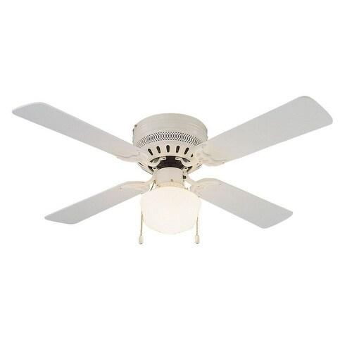 """Design House 157958 Millbridge Hugger Ceiling Fan, White, 42"""""""