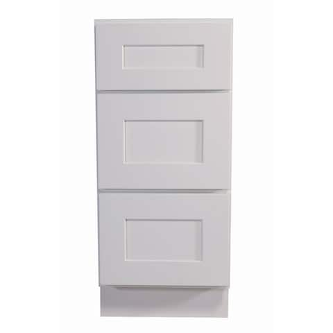 """Design House 561449 Brookings 12"""" Wide x 34-1/2"""" High Base Cabinet with Three Drawers"""