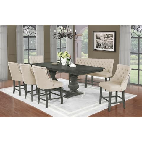 Best Quality Furniture 7 Piece Extendable Counter Height Dining Sets