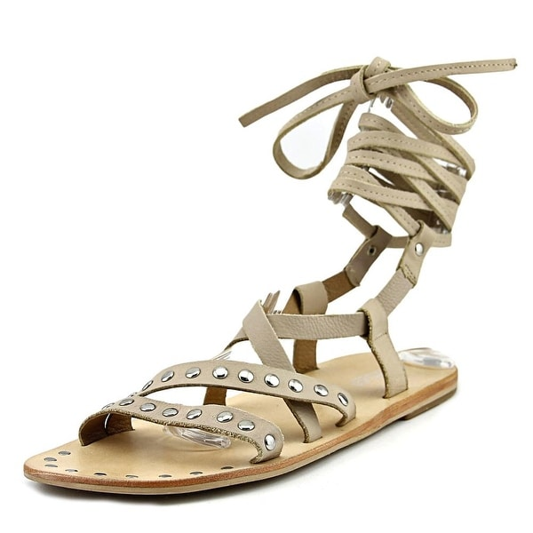 Charles By Charles David Steeler Women Open Toe Leather Nude Gladiator Sandal