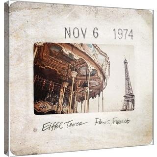 """PTM Images 9-101093  PTM Canvas Collection 12"""" x 12"""" - """"Slide of Paris B"""" Giclee Paris Art Print on Canvas"""