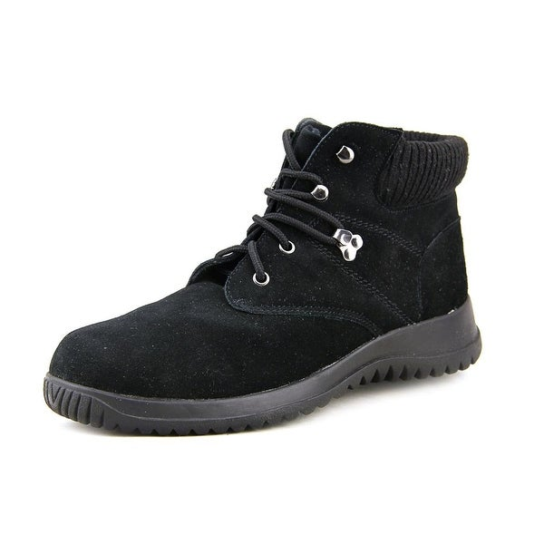 Wanderlust Boston Women N/S Round Toe Suede Black Boot