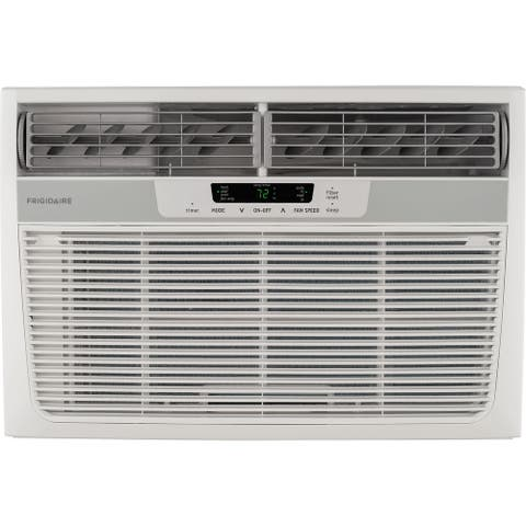 8,000 BTU 115V Compact Slide-Out Chassis Air Conditioner/Heat Pump with Remote Control - White