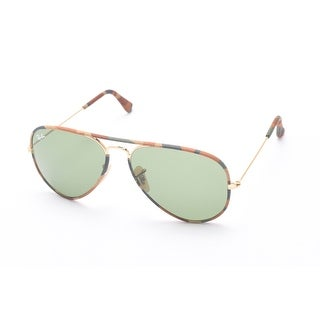 Ray-Ban Aviator Full Color Sunglasses Green Camoflauge/Gold - Small