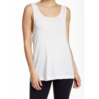 Free People NEW White Ivory Women's Small S Draped Back Tank Cami Top