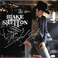 Blake Shelton signed Self Titled Debut Album Flat LP 1225x1225 2001 Warner Bros JSA Hologram Q59948