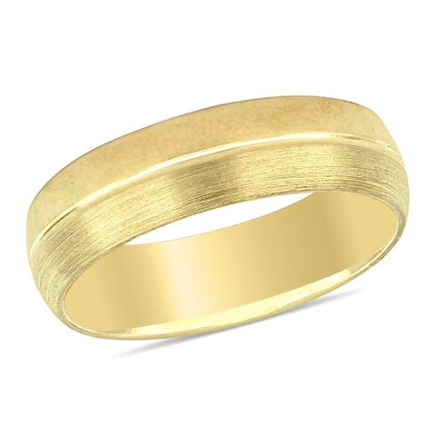 Miadora Ladies Comfort Fit Wedding Band in 10k Yellow Gold (6mm)