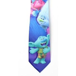 Dreamworks NEW Pink Blue Men's Classic Trolls Poppy Panel Neck Tie