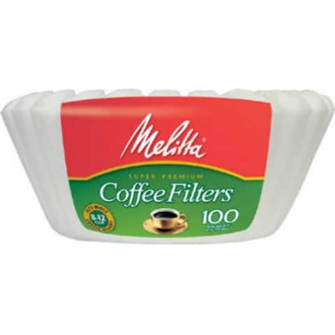 Melitta 629552 Coffee Basket Paper Filters, White, 100-Count
