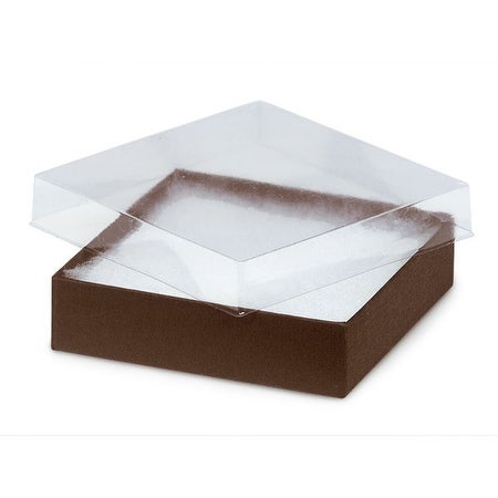 Pack Of 100 Solid 3 5 X 3 5 X 1 Clear Lid Jewelry Box