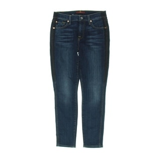7 For All Mankind Womens Ankle Jeans Super Skinny