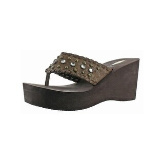 Volatile Womens Billyray Wedge Sandals Open Toe Casual