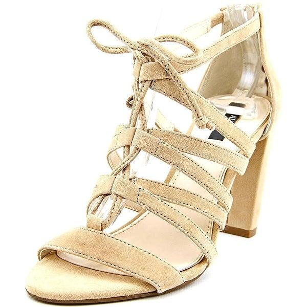 Alfani Womens Jaqui Leather Open Toe Casual Ankle Strap Sandals