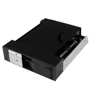 Startech.Com Dual Bay 5.25-Inch Trayless Hot Swap Mobile Rack Backplane For 2.5 And 3.5 Inch Sata/Sas Hdd/Ssd With Fan (