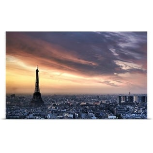 Poster Print entitled Sunrise over the Eiffel Tower, Paris