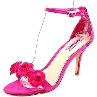 Betsey Johnson Bromme Women Open Toe Synthetic Pink Sandals