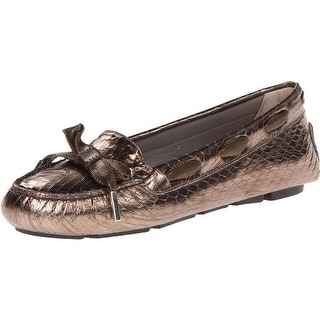 Aquatalia by Marvin K. Womens Alta Leather Snake Print Loafers - 8 medium (b,m)