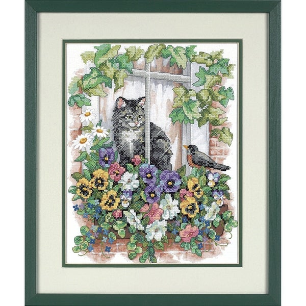 "Springtime View Stamped Cross Stitch Kit-11""X14"""