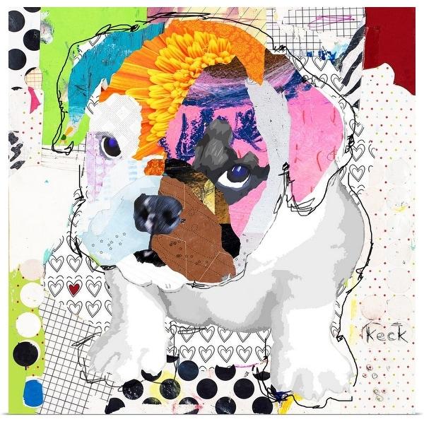 """Bulldog Puppy 1"" Poster Print"