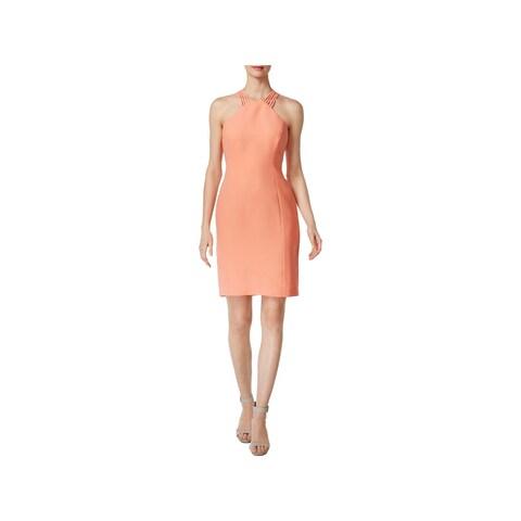 Calvin Klein Womens Cocktail Dress Sleeveless Sheath
