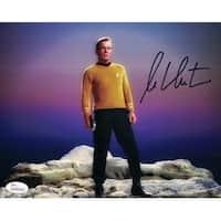 William Shatner Autographed Star Trek 8x10 Photo on Rocks JSA