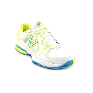 New Balance WC786 Women D Round Toe Leather Tennis Shoe