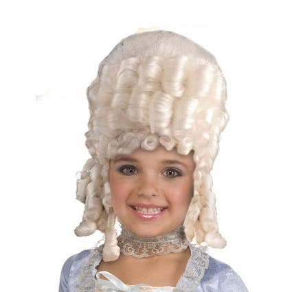Child White Marie Antoinette Wig Historical Accessory - Standard - One Size