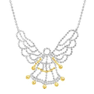 Guardian Angel Beaded Necklace in Sterling Silver & 10K Gold - Two-tone