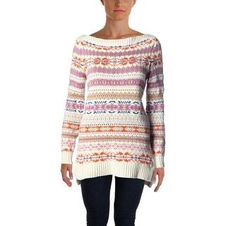 Lauren Ralph Lauren Womens Wool Blend Pattern Pullover Sweater